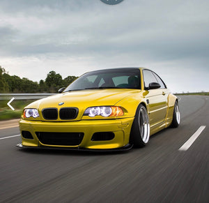 BMW E46 COUPE PANDEM STYLE WIDE BODY KIT drift track show over fenders arches