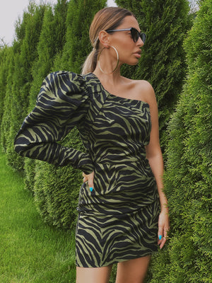 Zebra baloony dress