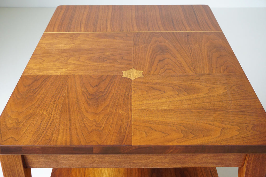 Walnut Inlay Side Table