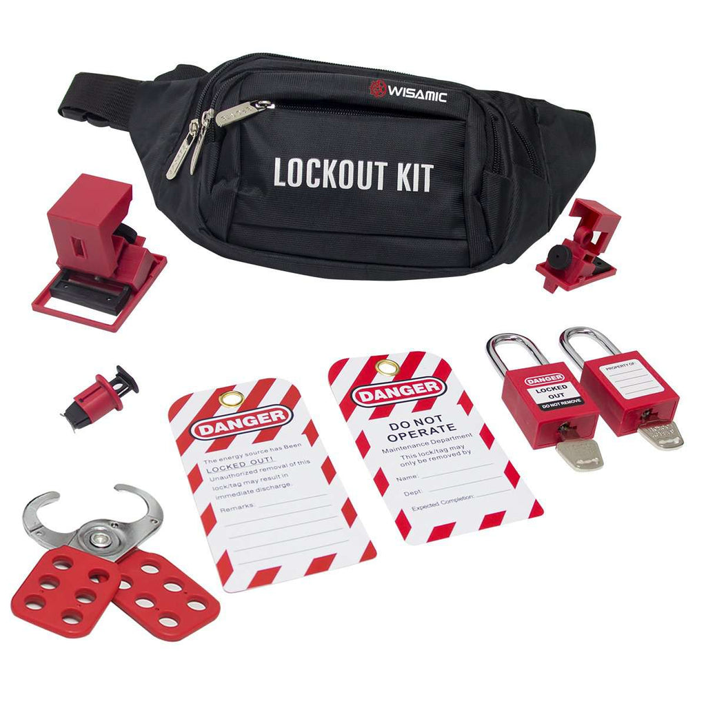 Lockout Tagout Kit - Clamp-On Circuit Breaker Lockout