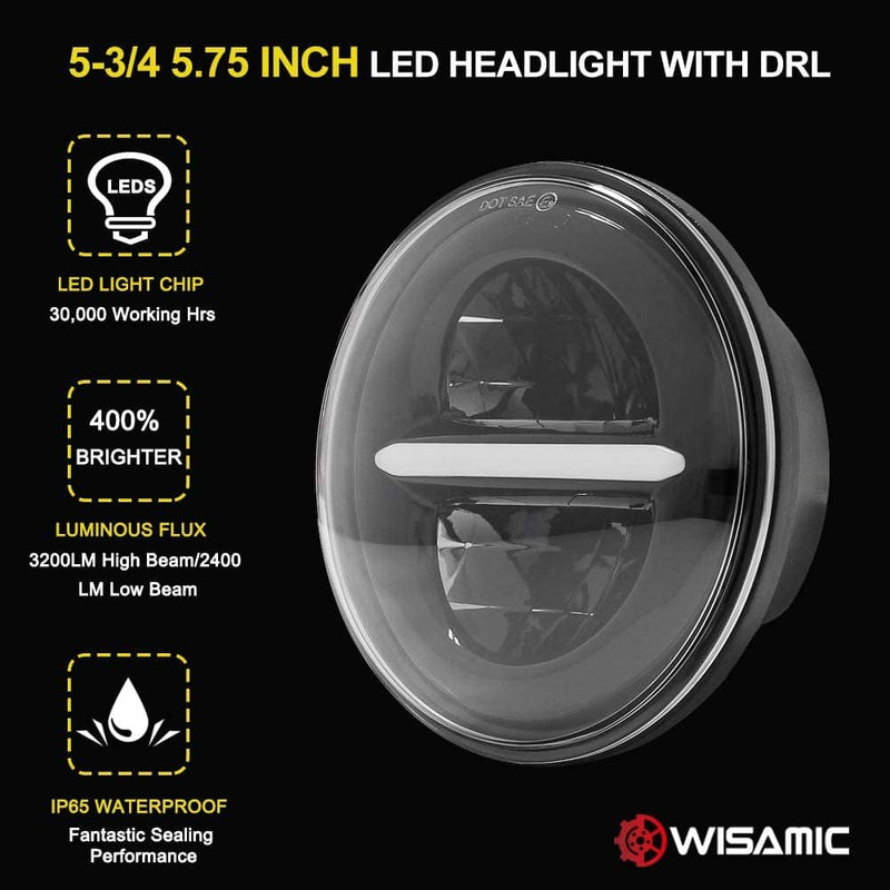 wisamic 5-3/4 led headlight