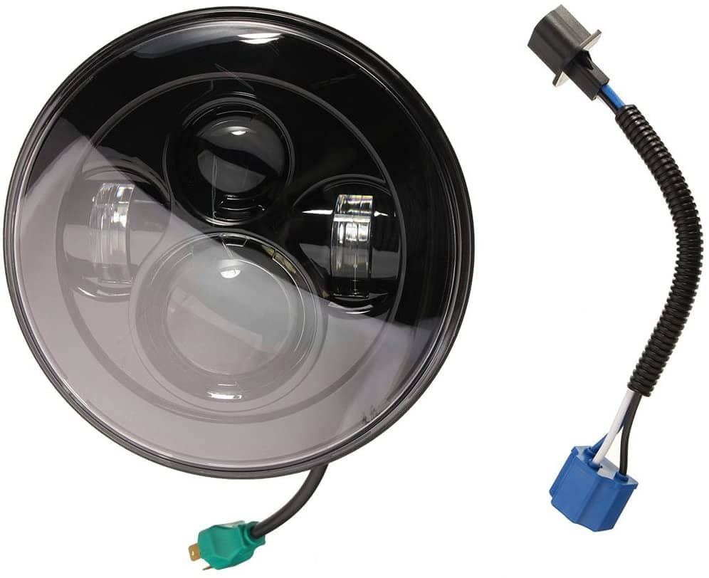 "wisamic 7"" led headlight and fog light"