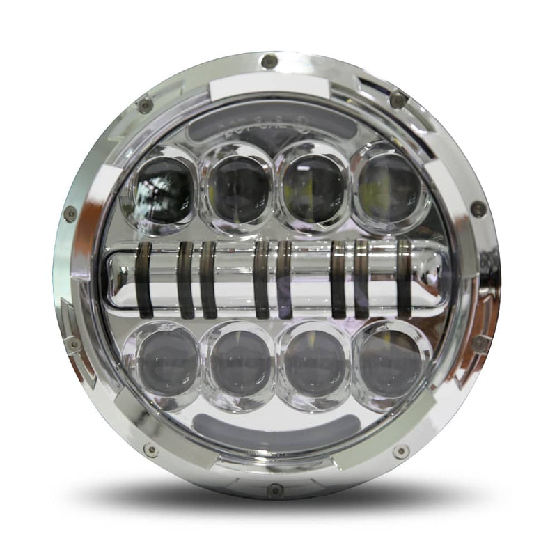 "wisamic 7"" led headlight silver"