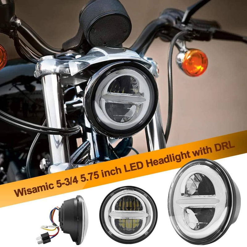 wisamic led headlight on motorcycle