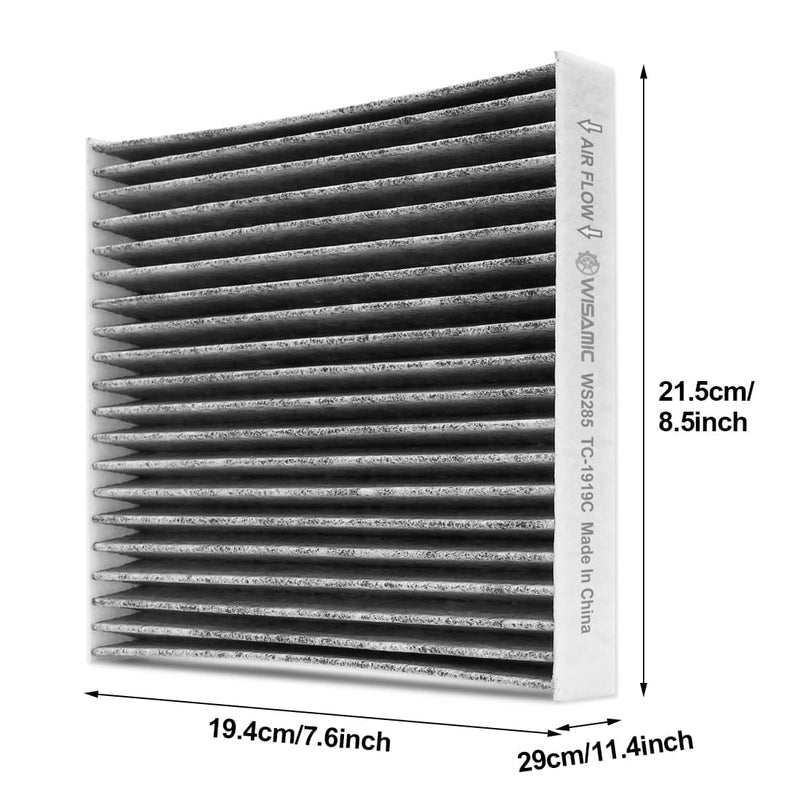 Cabin Air Filter Replacement for Toyota/Lexus/Scion/Subaru includes Activated Carbon WS285 (CF10285)