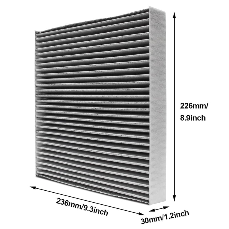 wisamic cabin air filter size