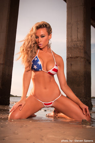 Stars And Stripes G-String Bikini
