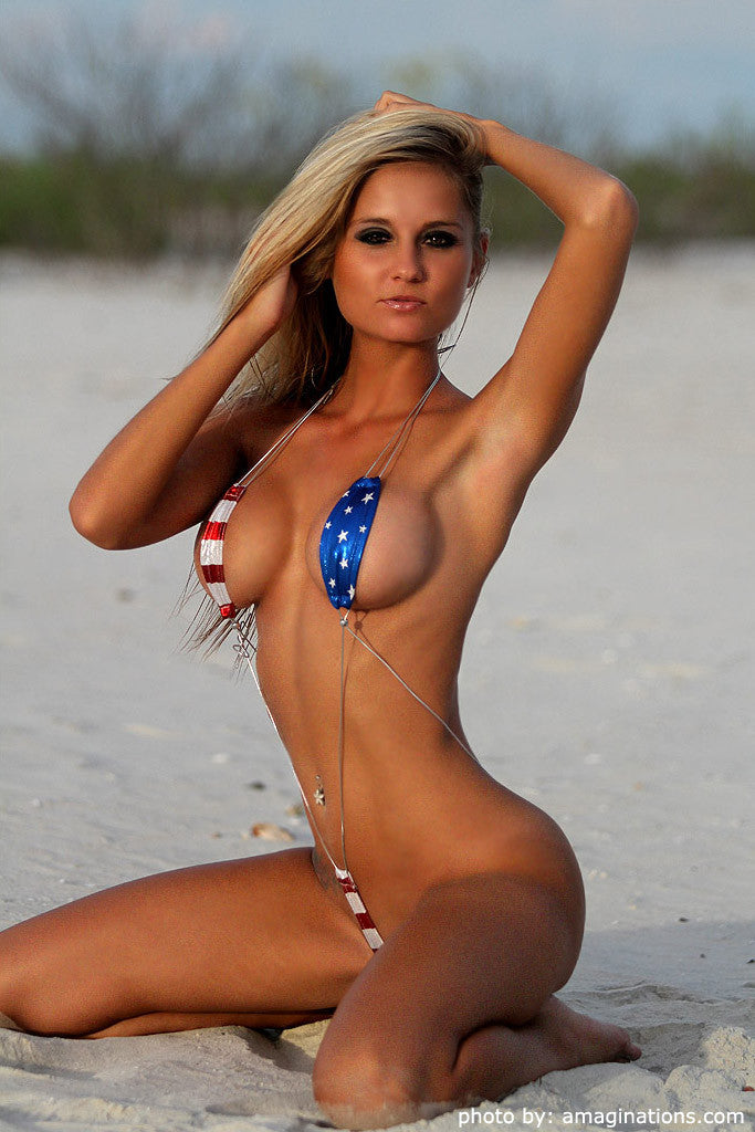 Stars And Stripes Monokini an extreme bikini