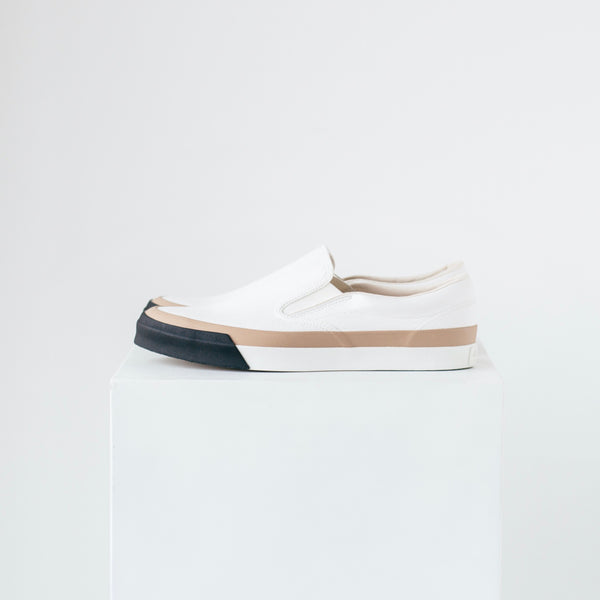 ASAHI DECK SLIP-ON MIXTURE - WHITE