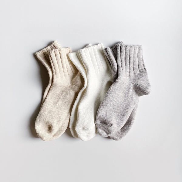 3PAIRS - NATURAL, WHITE, GRAY