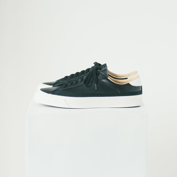 ASAHI BELTED LOW LEATHER - BLACK