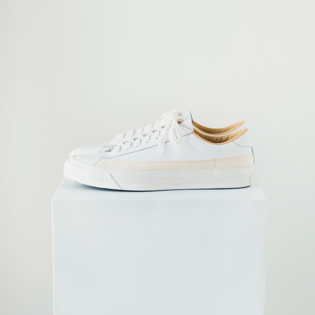 ASAHI BELTED LOW LEATHER - WHITE