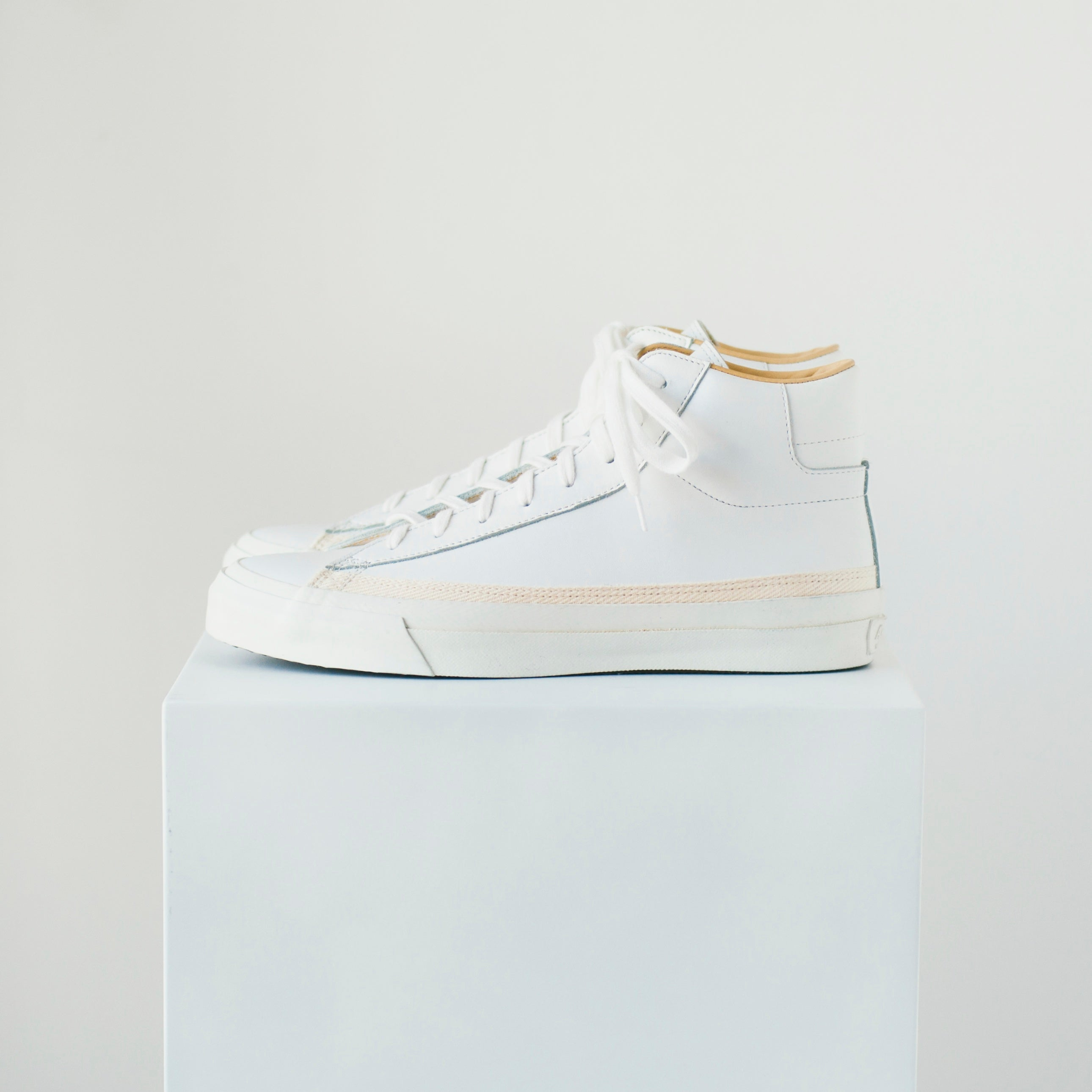 ASAHI BELTED HIGH LEATHER - WHITE