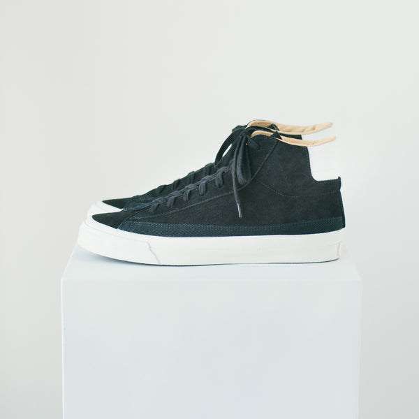 ASAHI BELTED HIGH SUEDE - BLACK