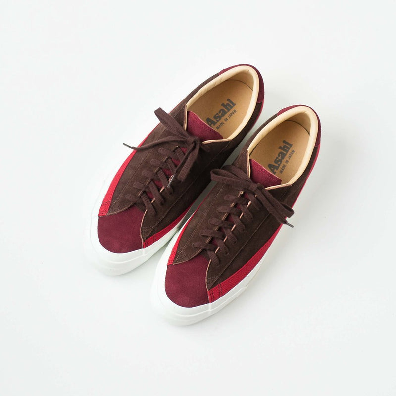 ASAHI BELTED LOW SUEDE - RED/BROWN