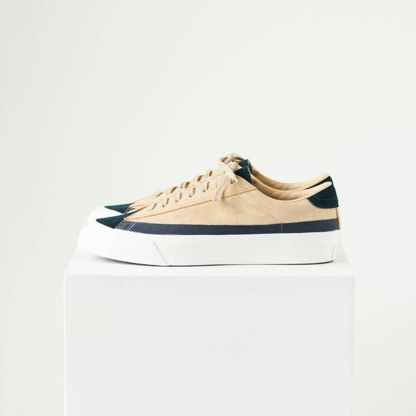 ASAHI BELTED LOW SUEDE - NAVY/BEIGE
