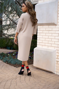 Low Key Cardigan Dress || Taupe