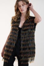 Load image into Gallery viewer, UPCYCLED heavy beaded vest