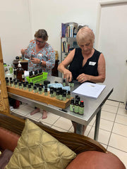 making skincare with essential oils
