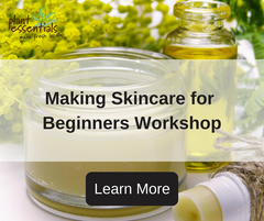 making skincare for beginners workshop plant essentials