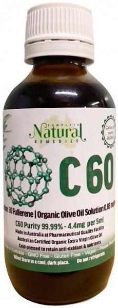 Complete Natural Remedies Carbon C60 Organic Olive Oil 100ml