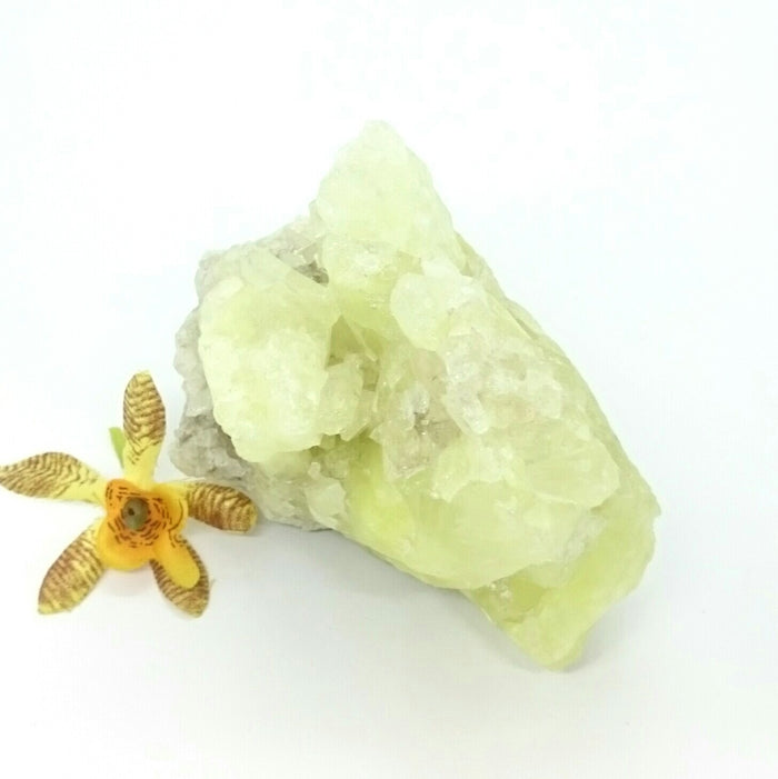 Sulphur in Quartz ~ Raw (each)
