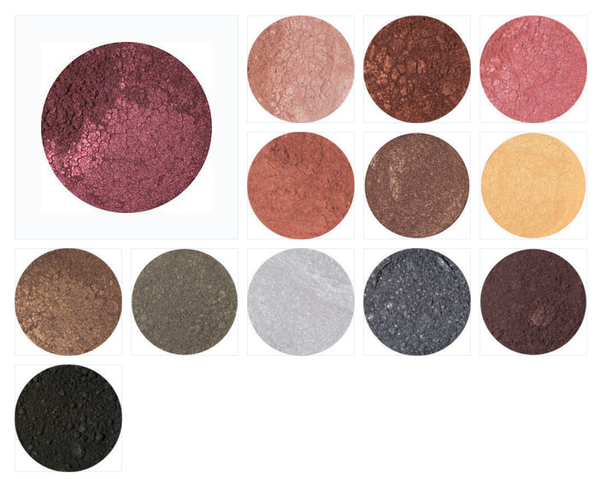 Plant Essentials Natural Mineral Eye shadow - Chocolate Colours