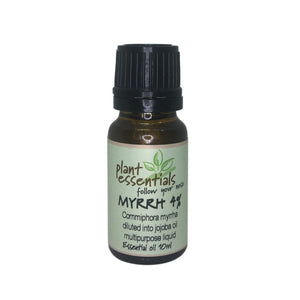 Myrrh Essential Oil, 4% in jojoba, Commiphora myrrha