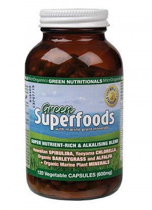 Green Nutritionals Mountain Green Superfoods ~ 120 vegecaps (600mg)