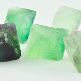 Fluorite natural octahedron each