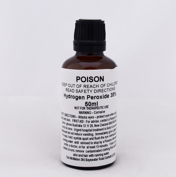 Hydrogen Peroxide 35% 50ml (Australian shipping only)