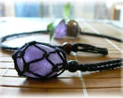 String necklace to hold crystals and tumbled stones