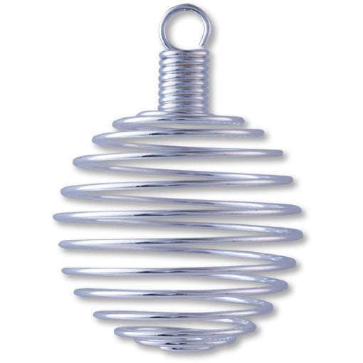 Spiral Steel Cage Pendant large (each)