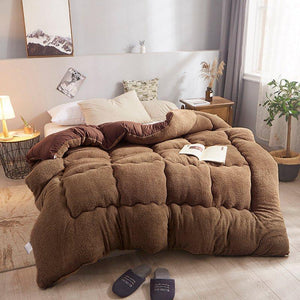 4Kg Thicken Shearling Blanket Winter Soft Warm Bed Quilt