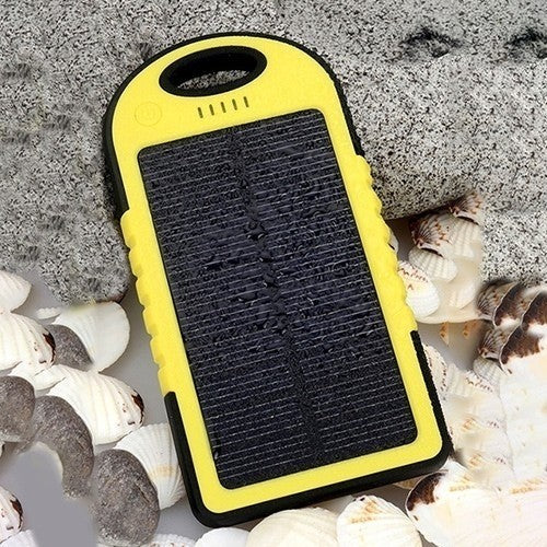 5,000 MAH High Speed 2 Port Solar Charger - 5 Colors