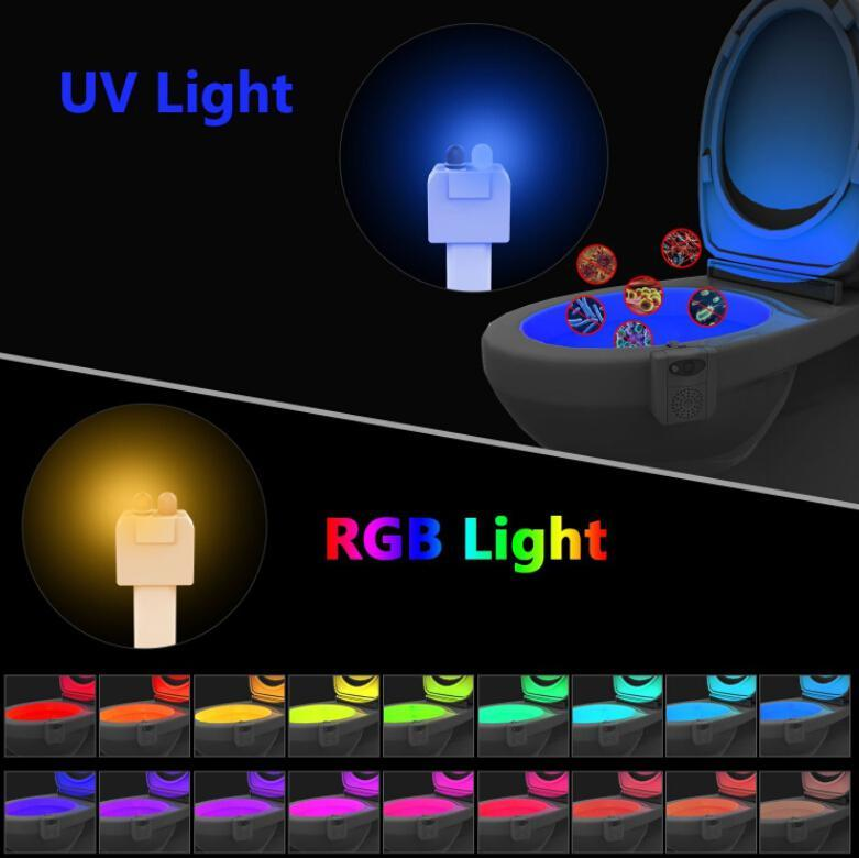 UV Sanitizer Toilet Motion Sensor Light (16 Colors)