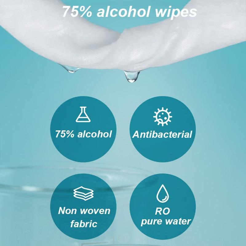 Disposable Antibacterial Wipes for Skin and Surfaces