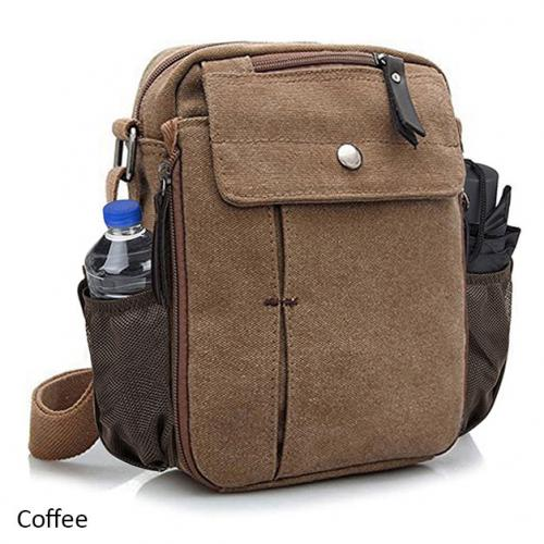 Multifunctional Canvas Bag with Bottle Holder - 5 Colors