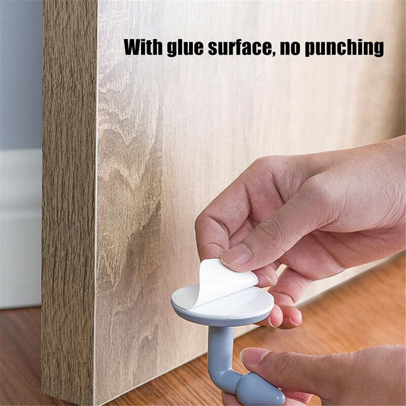Door Stopper Adhesive Door Wall Bumper Floor  Doorstop Holder