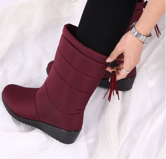 Waterproof Faux Fur Snow Boots