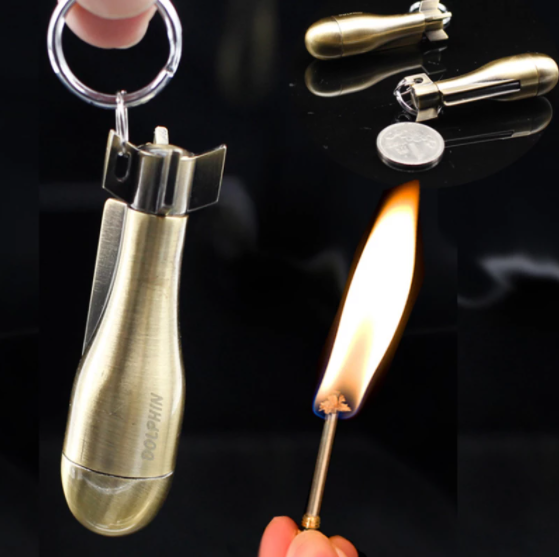 Flint Fire Striking Keychain