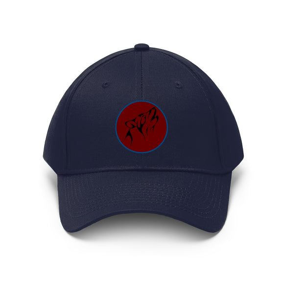 Unisex Twill Hat / Red Wolf - crazy-tee-designs