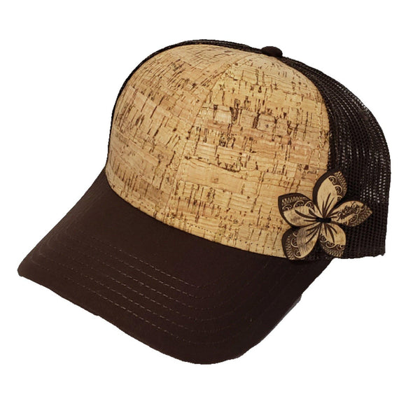Plumeria Straw Trucker Hat - FUSED HAWAII
