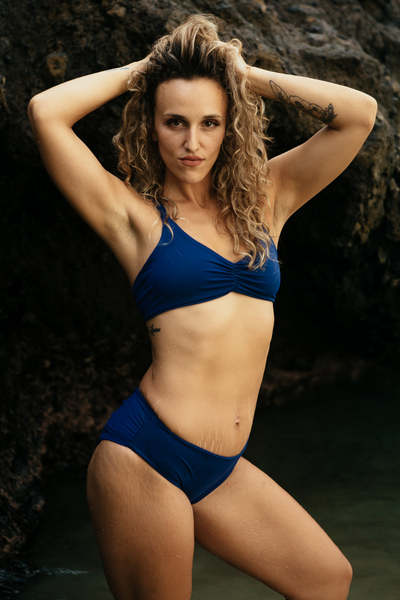 Navy Blue Kona Bikini Bottom - FUSED HAWAII