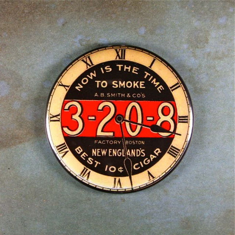 Vintage Advertisement Sign Fridge Magnet 3-20-8 Cigars 10cents