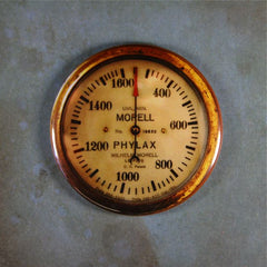 Steampunk Dieselpunk WW1 Aircraft Gauge Red Baron
