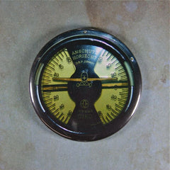 Vintage Aircraft Gauge Fridge Magnet  Artificial Horizon Steampunk