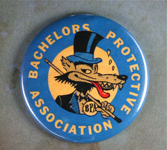 Bachelor Protective Association Fridge Magnet  Lone Wolf Top Hat BPA