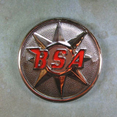 "Fridge Magnet 2 1/4"" Chrome BSA Emblem Cafe Racer"