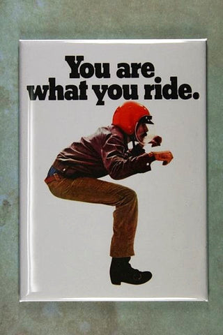 Vintage Motorcycle Ad Fridge Magnet BSA You are what you ride